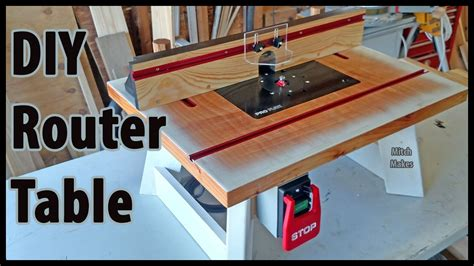 build  benchtop router table diy youtube