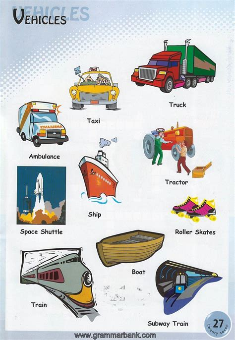 boat quiz names vehicle names transportation vocabulary