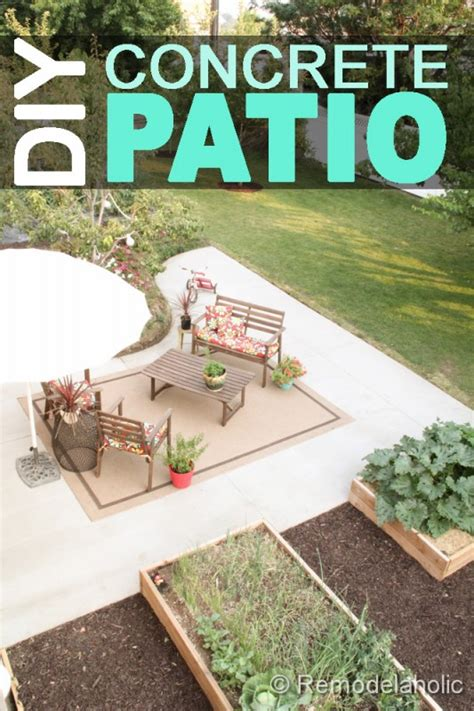 diy concrete backyard diy concrete patio