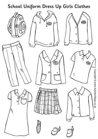 design clothes worksheet school uniform paper dolls girls clothes paperdolls