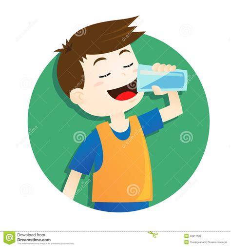 clipart acqua acqua potabile ragazzo illustrazione vettoriale