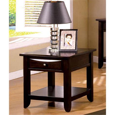 unique espresso unique espresso end table 44 with additional simple home