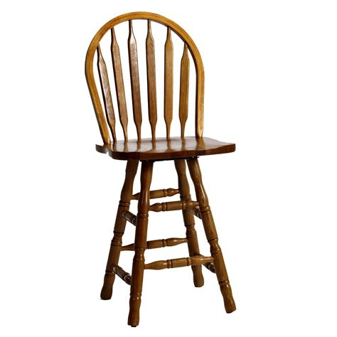 oak bar stools swivel intercon classic oak 24 quot turned leg arrow back swivel bar stool boulevard home furnishings