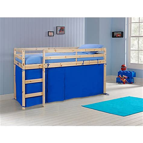 Pine Mid Sleeper Bed by Wood Mid Sleeper Bed Pine With Blue Tent At Homebase