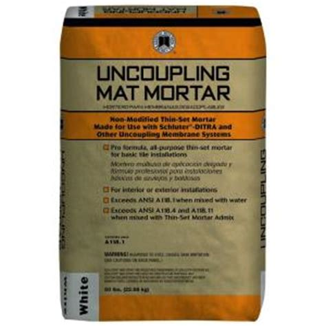 Mat Credit Formula Custom Building Products 50 Lb White Uncoupling Mat Mortar Ummw50 The Home Depot