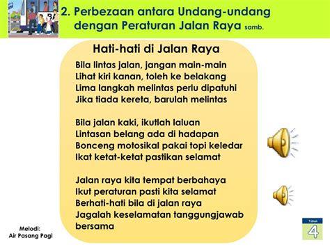 ppt kursus pendidikan keselamatan jalan raya dalam mata pelajaran bahasa malaysia tahun 4