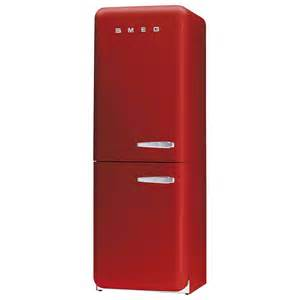 Home smeg fab32yr 50s retro style left hand hinged red fridge