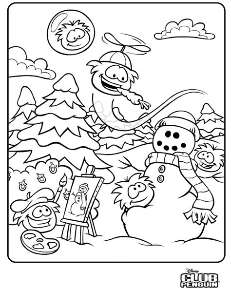 club penguin coloring pages of puffles coloring home
