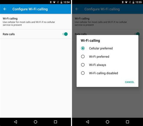 android wifi calling carrier services app can now wifi calling the android soul