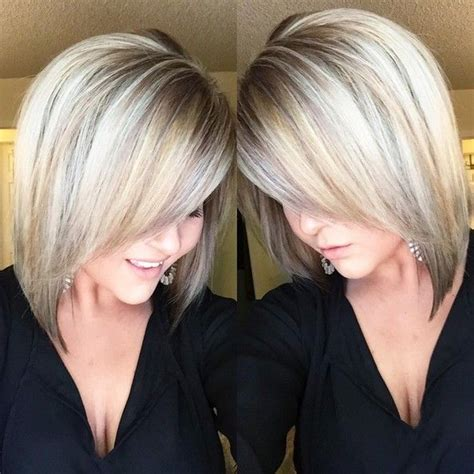 shoulder length angled bob 18 hot angled bob hairstyles shoulder length hair short