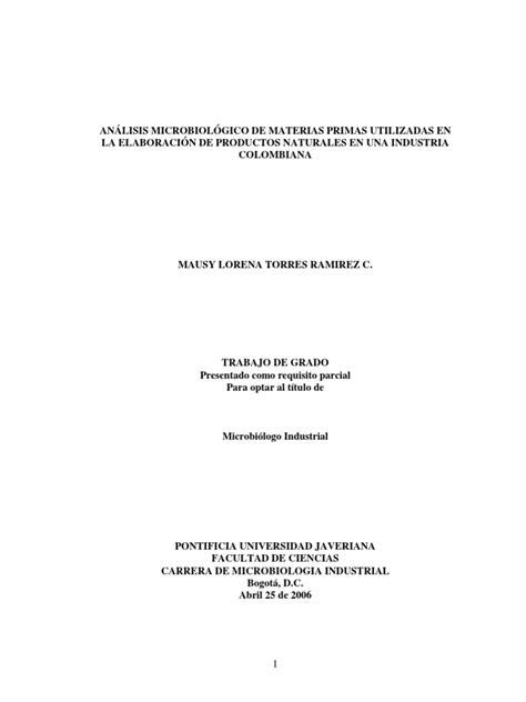 analisis microbiologico materia prima   Muestreo