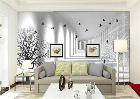 3d home interiors 2018 black and white sketch european style wallpaper non woven vintage 3d wall murals stereoscopic