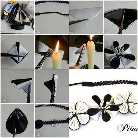 Step By Step On How To Make A Paper Airplane - how to make dual color ribbon flower step by step diy