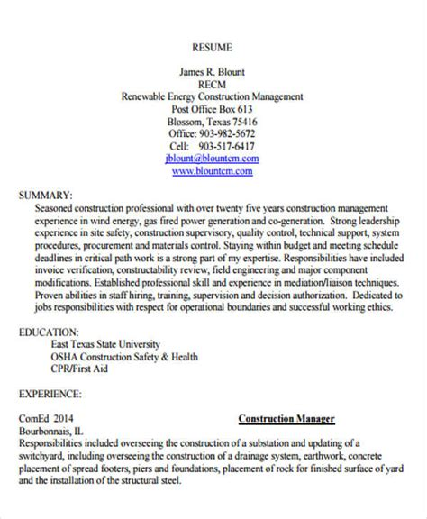 Management Resume Templates Free by Management Resume Templates Pdf Doc Free Premium