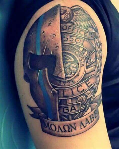 law enforcement tattoos best 25 ideas on