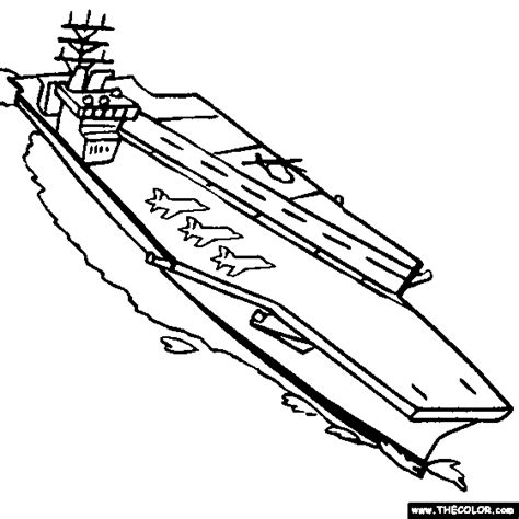 aircraft carrier coloring page boat ship speedboat sailboat battleship submarine