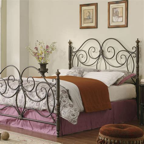 king size metal headboard and footboard metal full king size bed headboard footboard bedroom