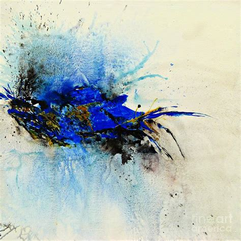 blue painting magical blue abstract painting by ismeta gruenwald