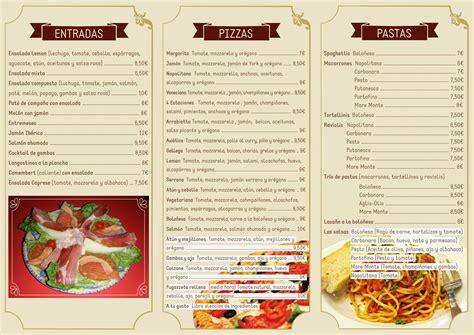 Carta De Un Restaurante | carta restaurante pizzer 237 a leman lucesblandas