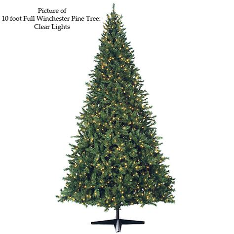 9 foot full winchester pine christmas tree led lights c