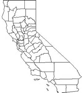 map of california outline california county map outline
