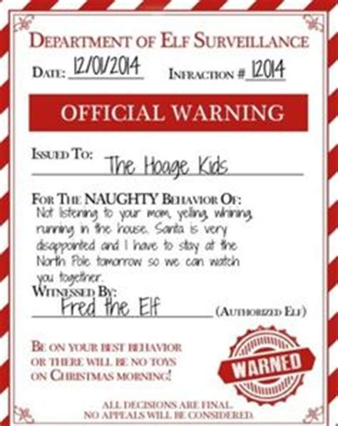 elf on the shelf naughty list warning printable clever elf on the shelf tricks and antics shelf ideas
