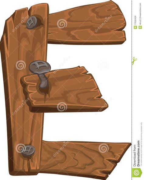 wooden alphabet letter e on white background stock