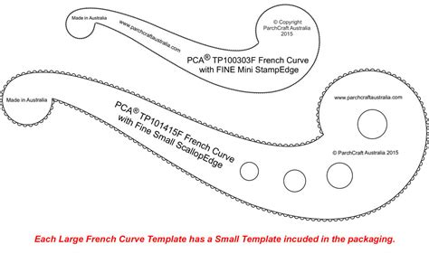 free curve template pca templates craft supplies