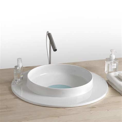 bagno in ceramica lavabo tondo per bagno in ceramica design moderno kathy