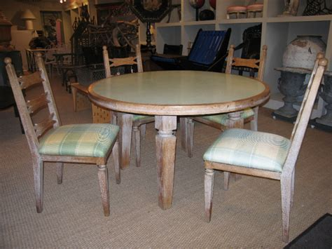 Limed Oak Dining Table And Chairs 1940s Limed Oak Dining Table And Four Chairs