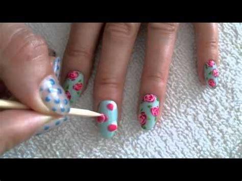 oreo nail art tutorial vintage rose gel nail art tutorial youtube