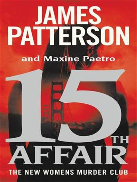 16th s murder club books 15th affair s murder club 15 by patterson