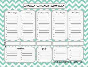 Blank Cleaning Schedule Template by List Junkie Weekly Cleaning Schedule Free Printable