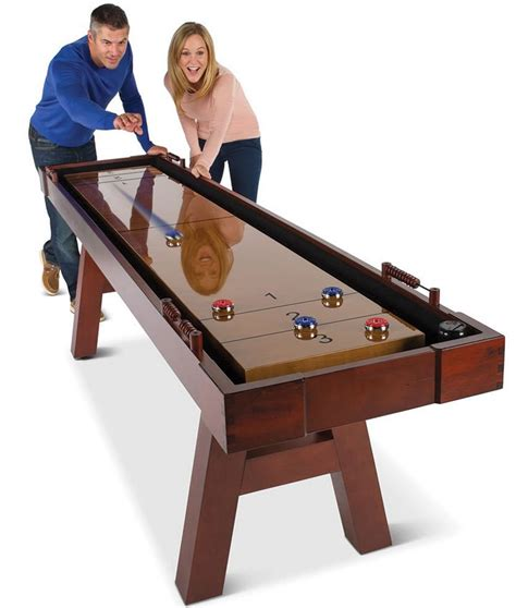 the 9 foot wooden shuffleboard table