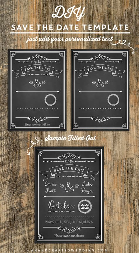 save the date free templates printable 7 best images of diy save the date template