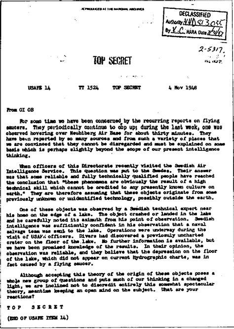 top secret report template file 1948 top secret usaf ufo extraterrestrial document png