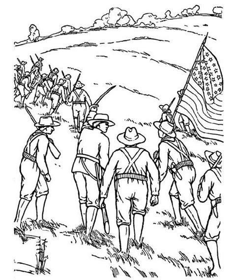 Civil War Coloring Page 4 best images of civil war coloring pages printable