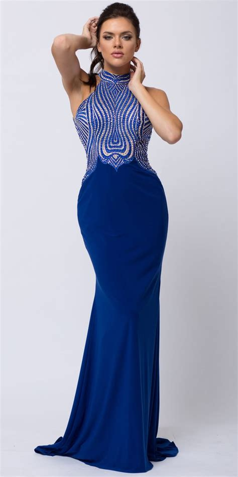 Rmf33 Two Tone Halter Top high halter neck two tone bejeweled top prom dress henry showroom at