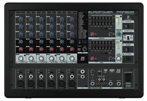 Power Mixer Behringer 6 Channel behringer pmp930m europower 900 watt 6 channel powered mixer