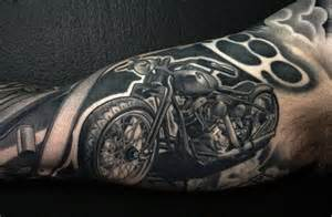 excellent motorcycle tattoo classic biker style