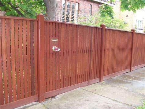 Modern Wood Wall merbau fencing taylor fencing melbourne
