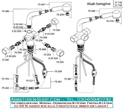 wasserhahn innenleben ersatzteile f 252 r kludi armaturen im armaturen shop