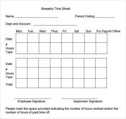 bi weekly time card template sle volunteer timesheet templete time sheet template