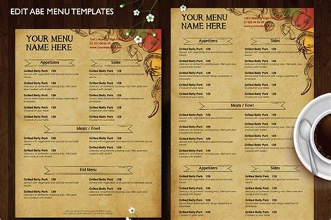 free take out menu templates 20 take out menu templates free word designs sles