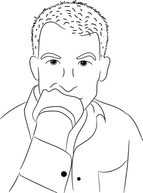 Thinking Outline by Clipart Thinking