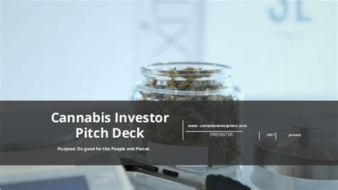 Cannabis Investor Pitch Deck Template Investor Deck Template