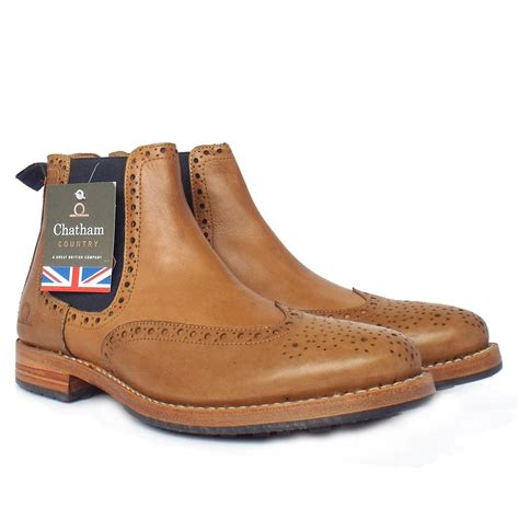 brogue chelsea boots mens chatham country dudley s pull on chelsea boots in