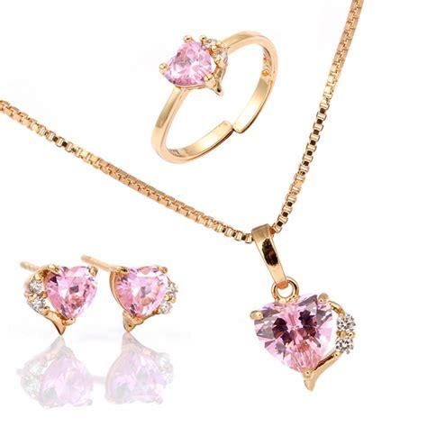 jewelry for children aliexpress buy children pink cubic zirconia