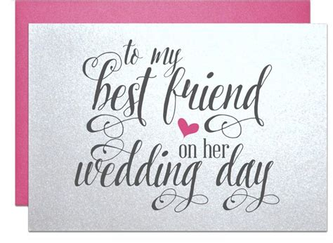 Wedding Gift For Best Friend wedding gift card for best friend wedding bridal shower