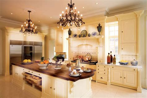 Kitchen Luxury White White Luxury Kitchen Designs Photo Gallery Wooden Countertop Beautiful Chandelier